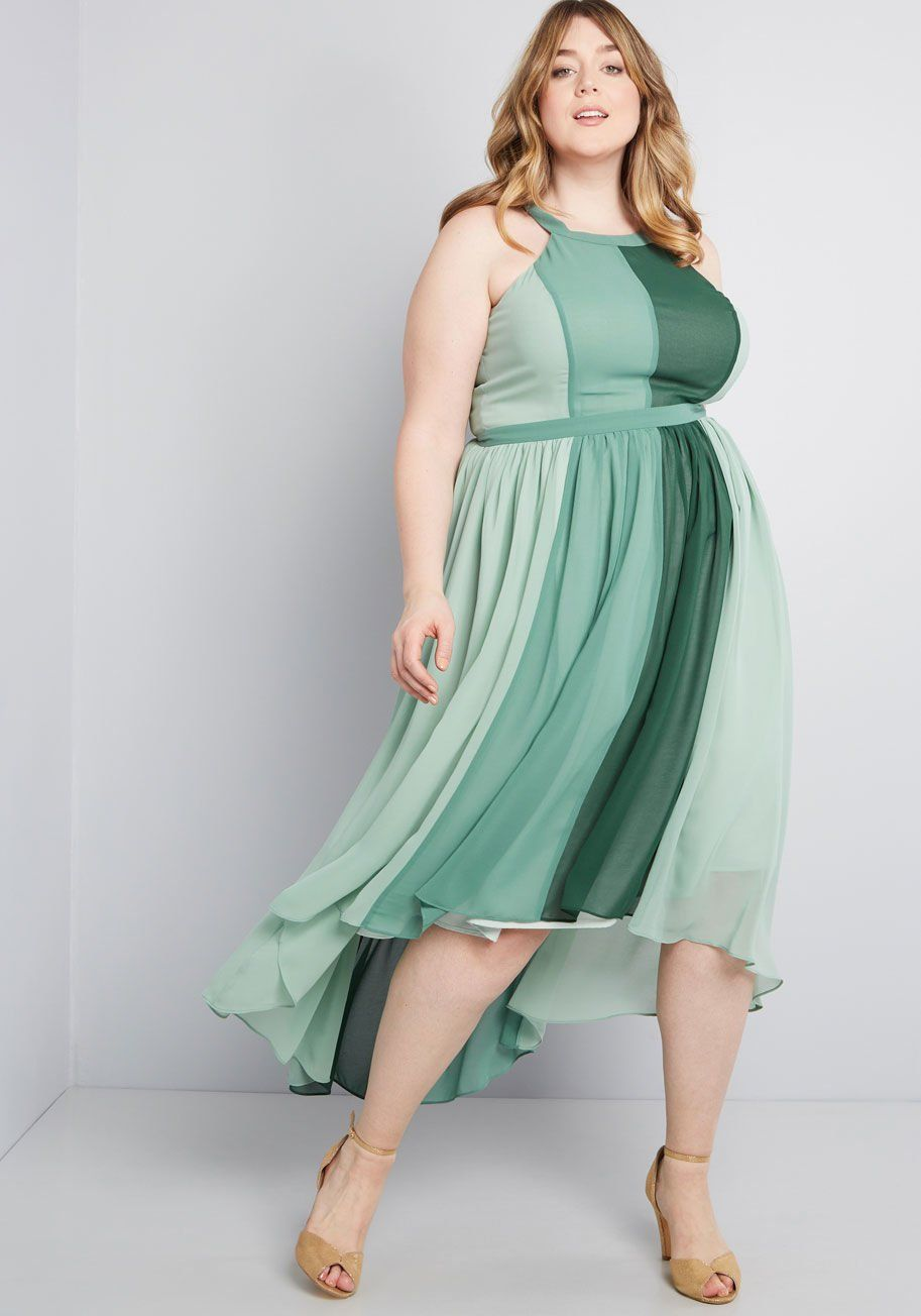 ac4275e1b38 Peachy Queen Maxi Dress in Pear Feel like royalty in this airy colorblocked  maxi - part of our ModCloth namesake label! Featuring roomy pockets