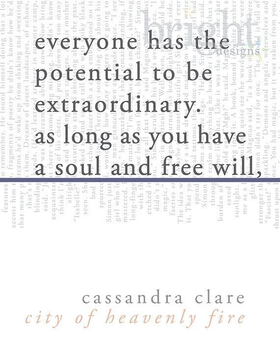 literary art print / book quote // the mortal instruments