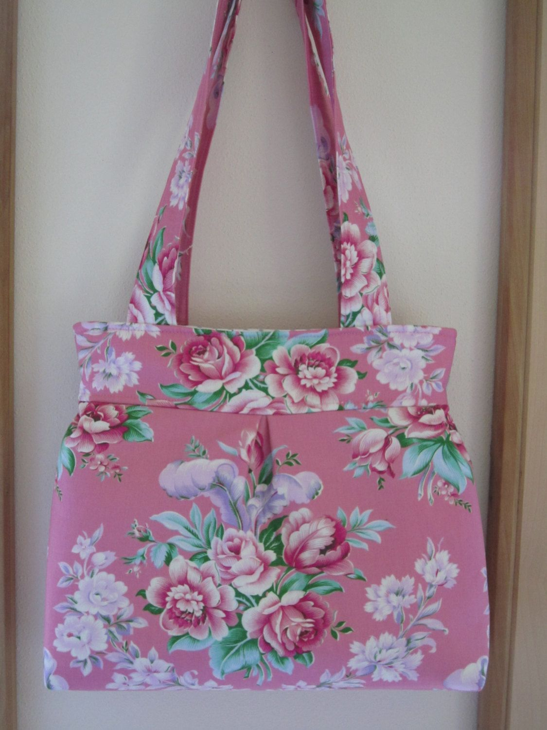 Handbag Purse  Shoulder Bag Netbook Tote Circa in Pink Floral Shabby Chic - pinned by pin4etsy.com
