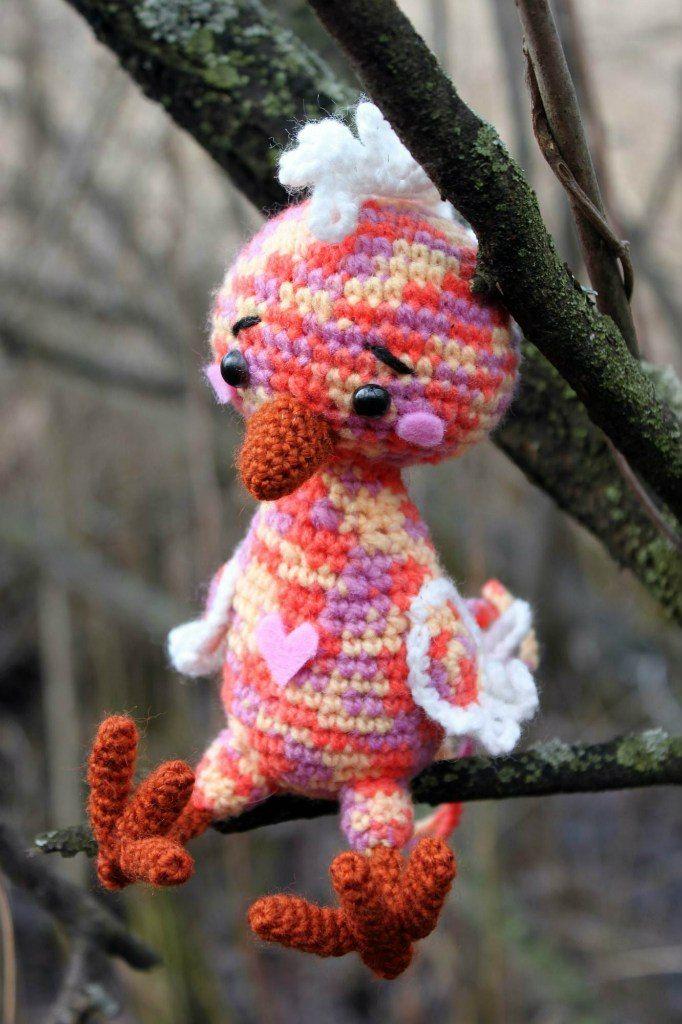 Crochet bird amigurumi pattern   TOYS   Pinterest   Häkeln, Muster ...