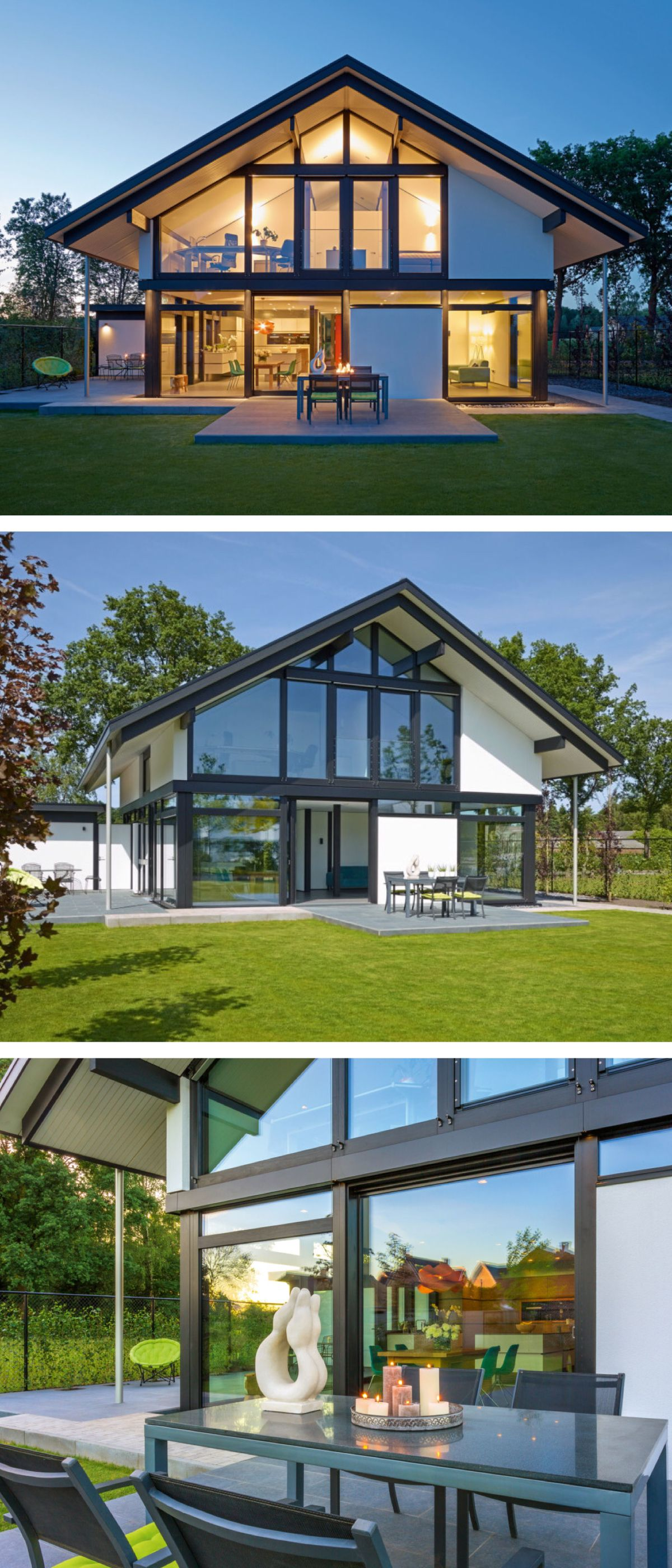 Modernes Fachwerkhaus Neubau mit Satteldach Architektur ...