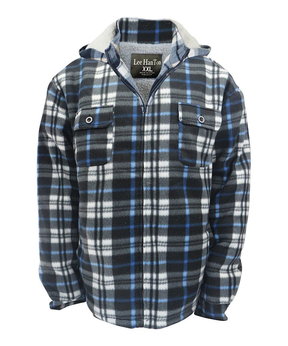 Flannel jacket with wool lining  Take a look at this Blue u Gray Plaid SherpaLined Fleece Flannel