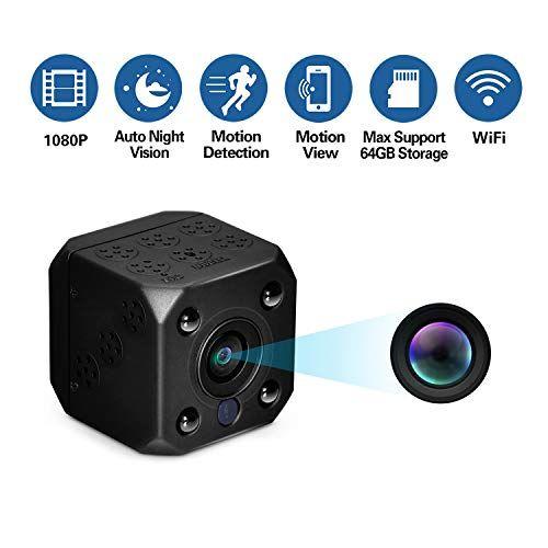 Get Sale Review Sunnflowfox Wifi Spy Camera Wireless Mini Hidden Camera Nanny Camera 1080p Hd