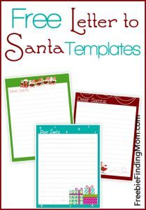 Freebie Free Letter To Santa Templates  Notes To Or From Santa
