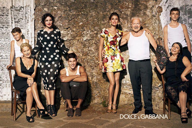 c8909b01fd604a dolce gabbana6 Bianca Balti & Monica Bellucci for Dolce & Gabbana Spring  2012 Campaign by Giampaolo Sgura