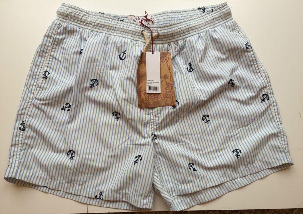 8df9c52524 Mens Havacoa Swim Shorts Surf Shorts Blue Stripe XS , M , Authentic New  RRP£85