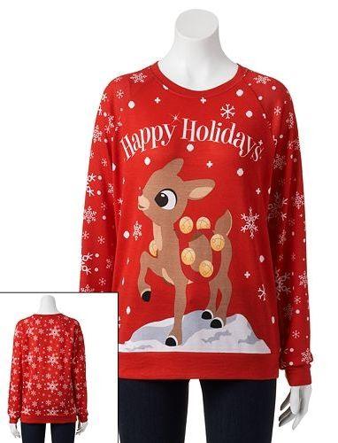 Kohl Ugly Christmas Sweaters.Freeze Ugly Christmas Sweatshirt Juniors Ugliest