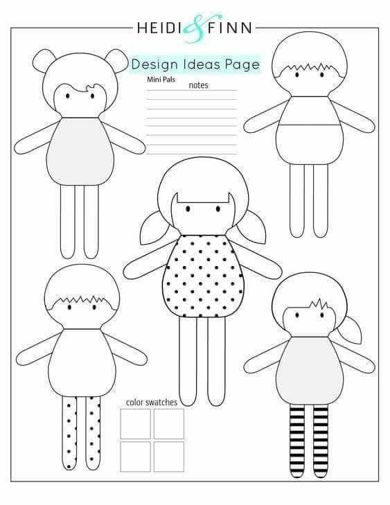 Pin de Keyla Chorfi en Bonecas | Pinterest | Costura, Moldes y Muñecas
