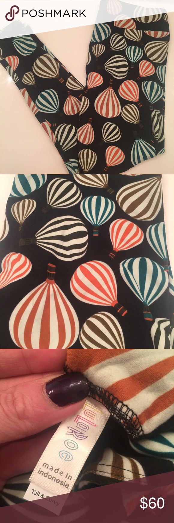 1f64dbecc00ba7 LuLaRoe TC leggings hot air balloons Super cute and soft leggings. Rare  unicorn print. Offers are welcome, but 25 is not a reasonable offer.