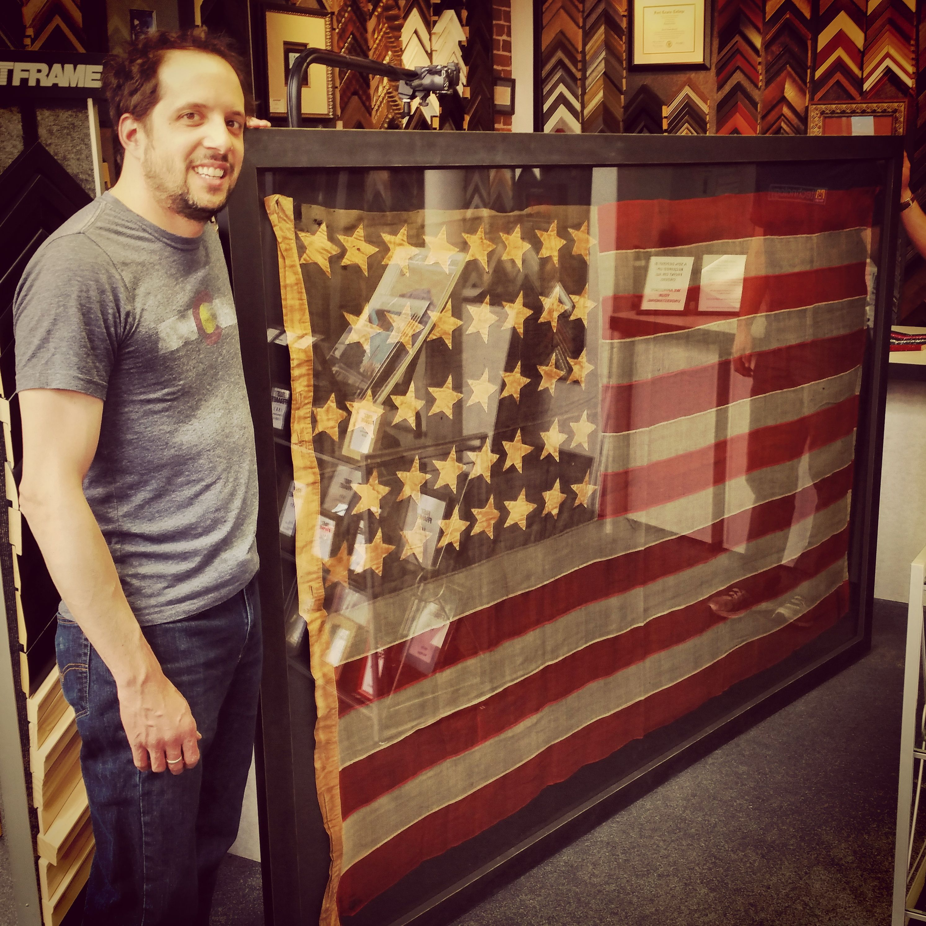 We just completed this 96 X 52 vintage flag from the late 1800s for ...