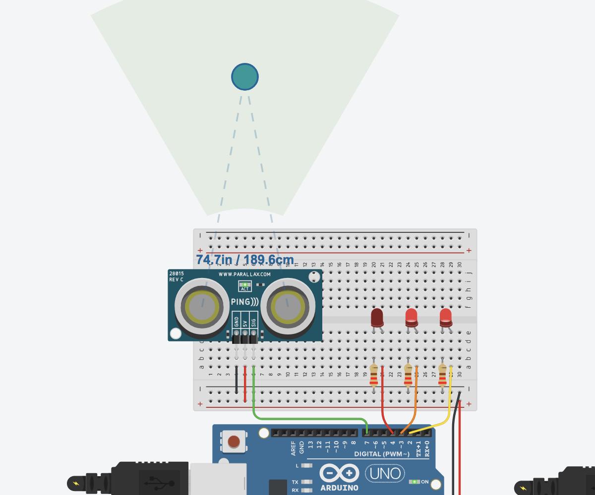 Ultrasonic Distance Sensor In Arduino With Tinkercad Arduino Ultrasonic Arduino Projects