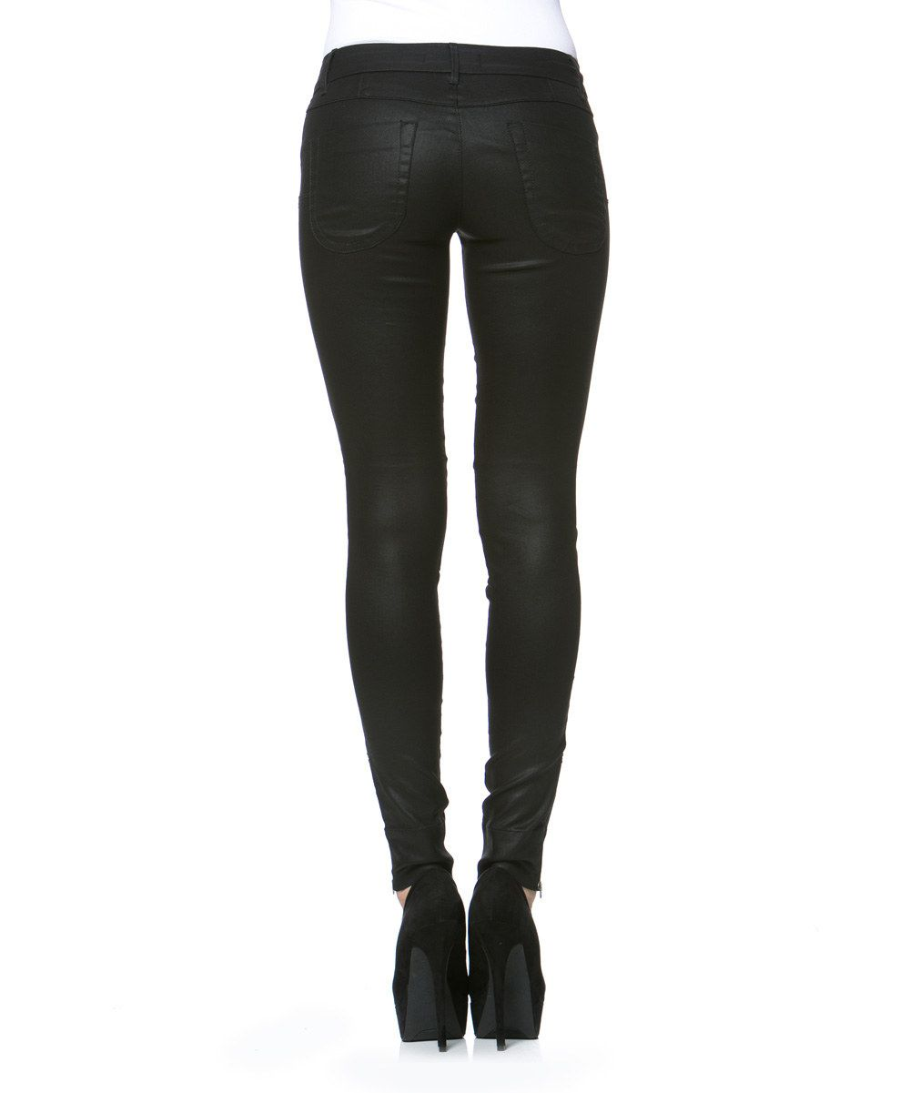 Habitual Black Viper Faux Leather Skinny Jeans   zulily