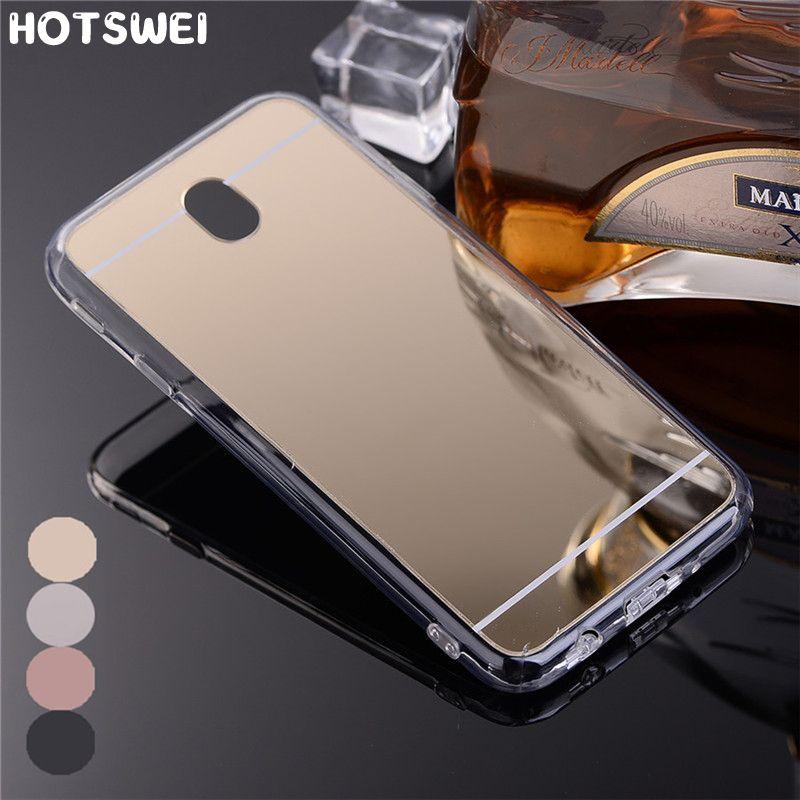 Hotswei Case For Samsung J7 2017 Eu J730 Luxury Plating Mirror Soft Tpu Phone Bag Case For Samsung Galaxy J7 Pro J7 Coque Samsung J3 Samsung Coque De Téléphone
