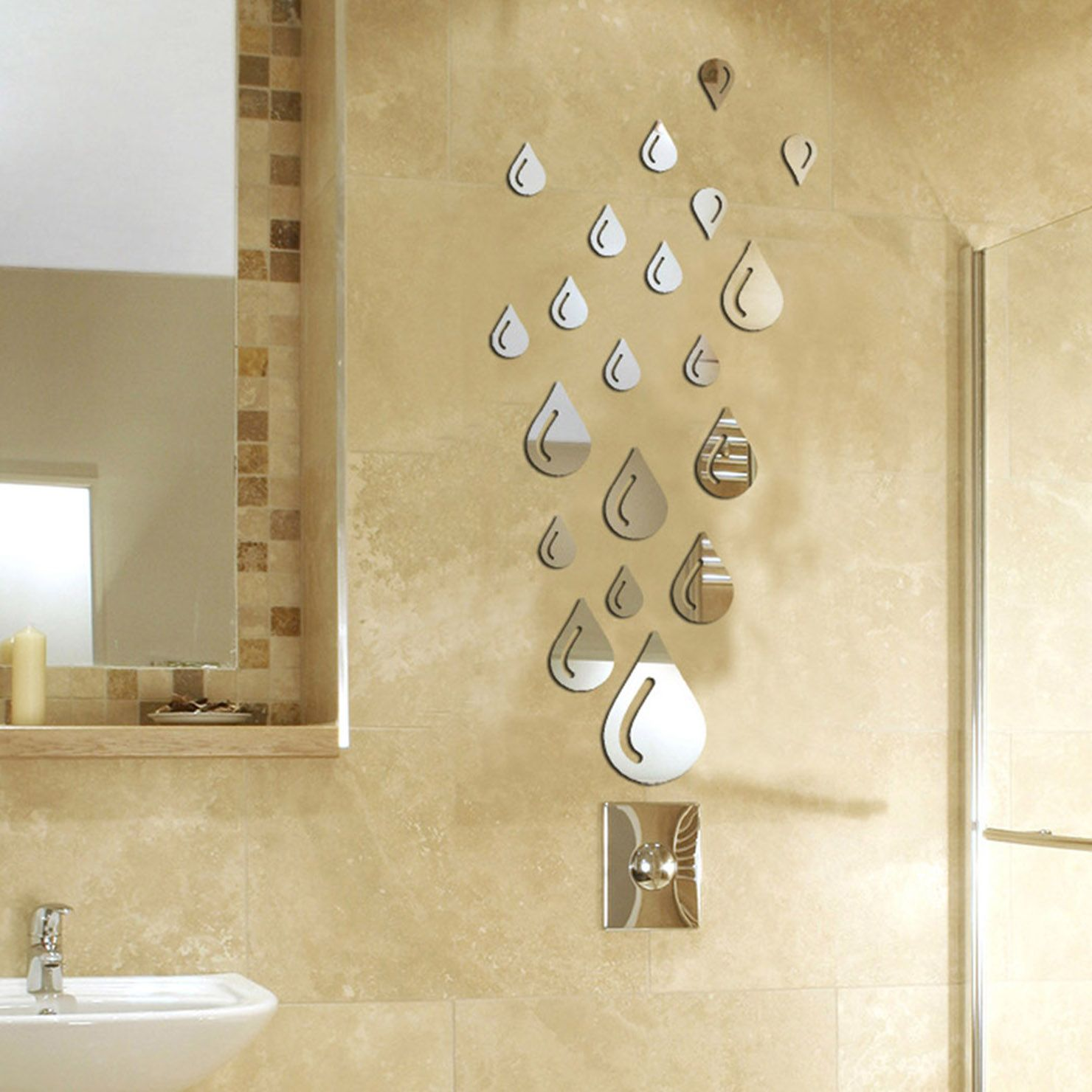 Raindrops Mirrored Wall Sticker | Wall sticker and Walls