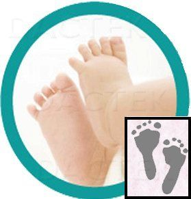 Baby Inkless Footprint Kit with Color Papers Mottled Pink