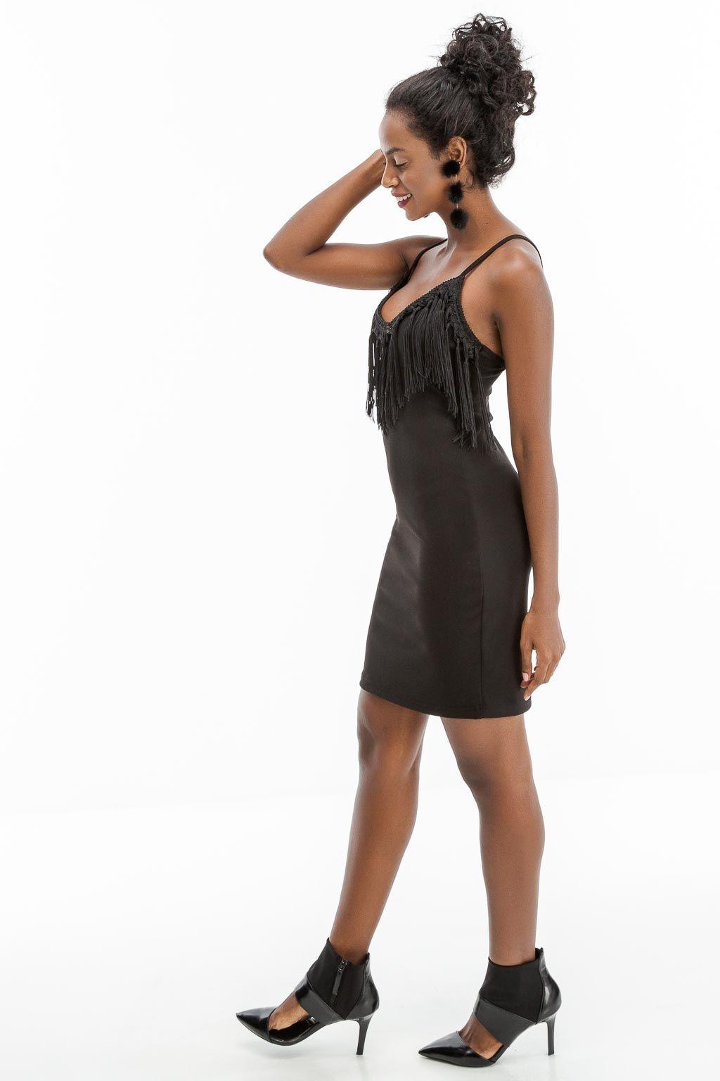 2750594fc85 🌟👉Θηλυκότατο μαύρο φόρεμα με κρόσσια απο την Anel Fashion!!👈🌟Μια ...