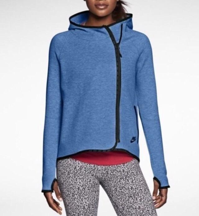 Nike Tech fleece cape hoodie In Blue  d91ea1906c8b
