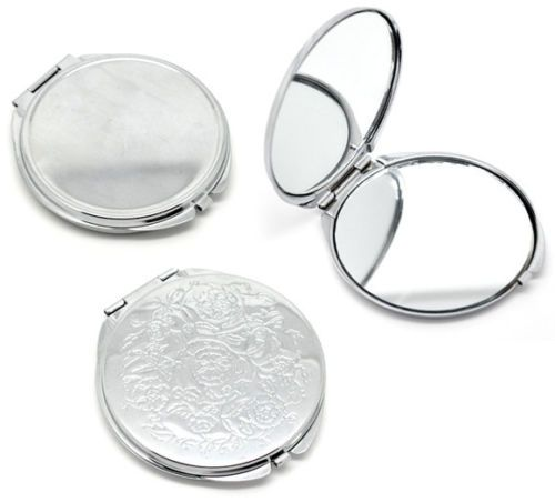 5051-Silver-Tone-Carved-Make-Up-Compact-Mirror-6-6x6-2cm-B15137