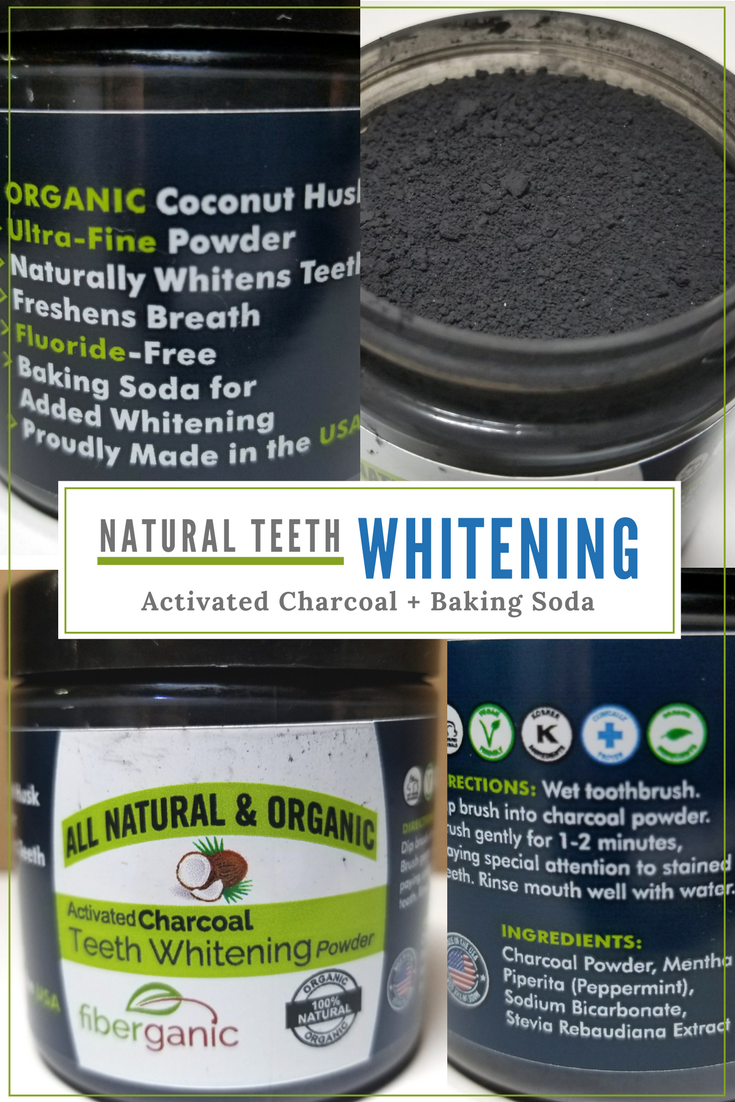 Activated Charcoal Powder + Baking Soda = Perfect Duo for