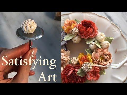 How to make Flowercake Decoration|Oddly satisfying Art - YouTube