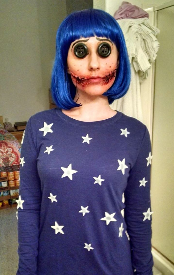 Coraline Costume 2015 Coraline Costume Halloween Makeup Scary Halloween