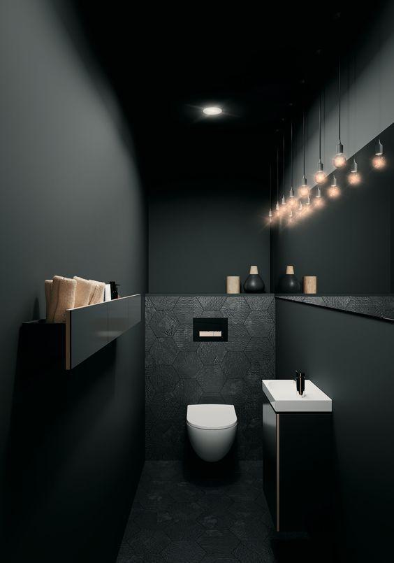 Photo of Verwendung von schwarzer Farbe in Badezimmerdekorationen