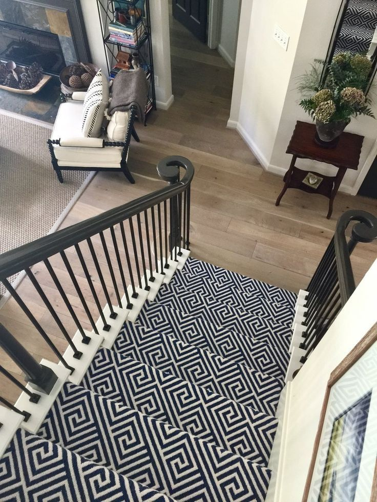 Best Patterned Stair Carpet In Center Of Open Plan Home With 400 x 300