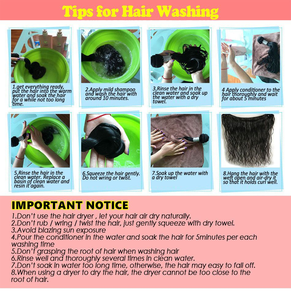 nlw hair supplier washing hair tips (With images) Mild