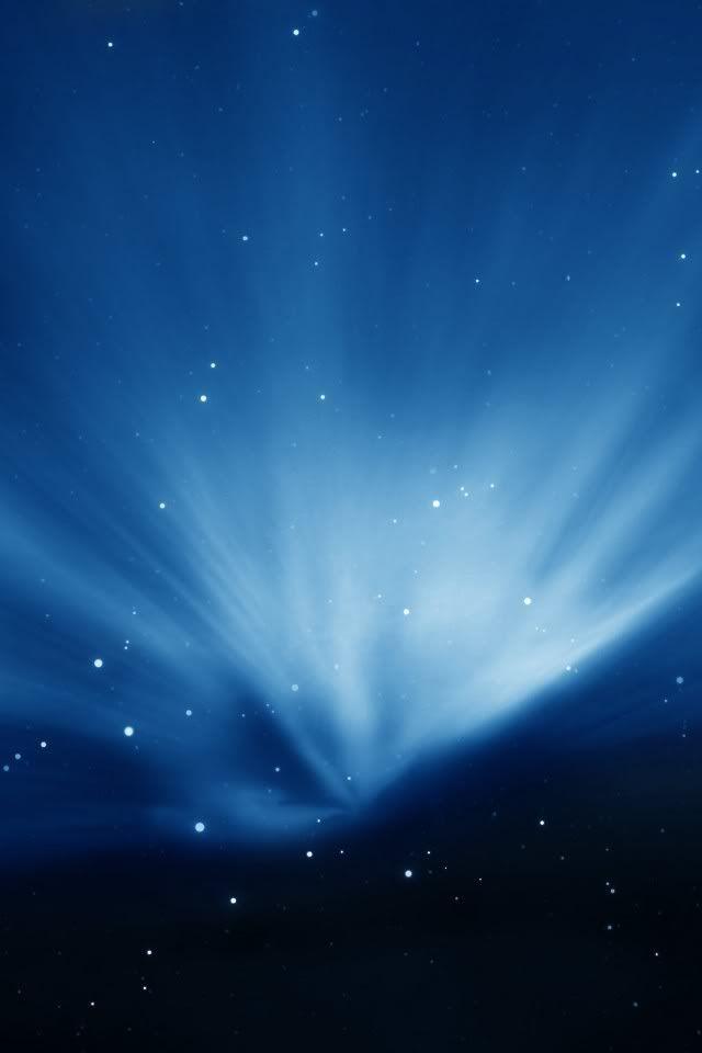 Blue Aurora Aurore Boreale Bleu Et Aurore