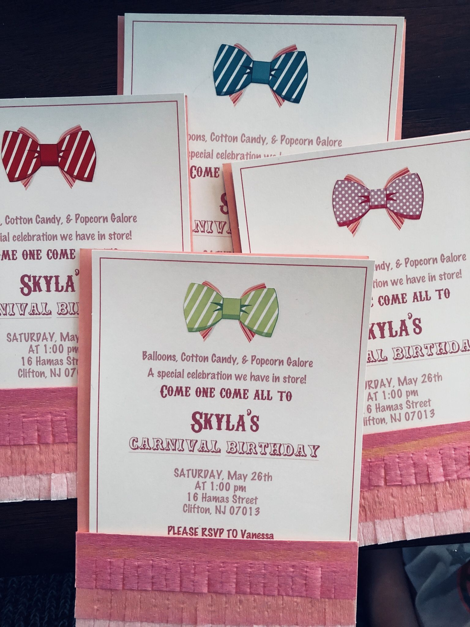 Carnival Party Invites with simple template by Martha Stewart ...