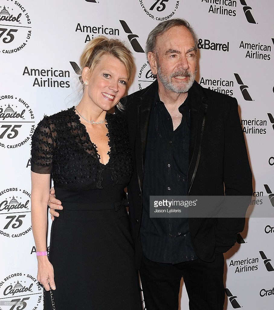 Singer Neil Diamond (R) and wife Katie McNeil attend the