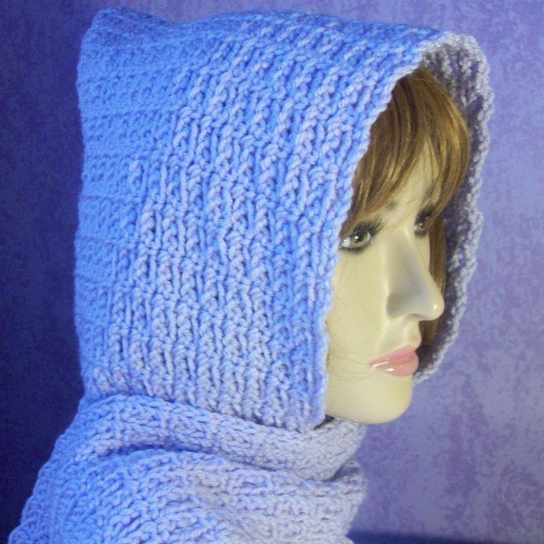 Beginner Chain Stitch Hooded Scarf Free Crochet Pattern Crochet