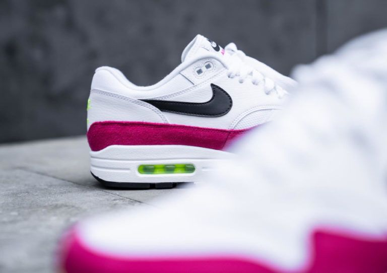 Air Max 87 homme White Black Volt Pink Rush (5) | Chaussures