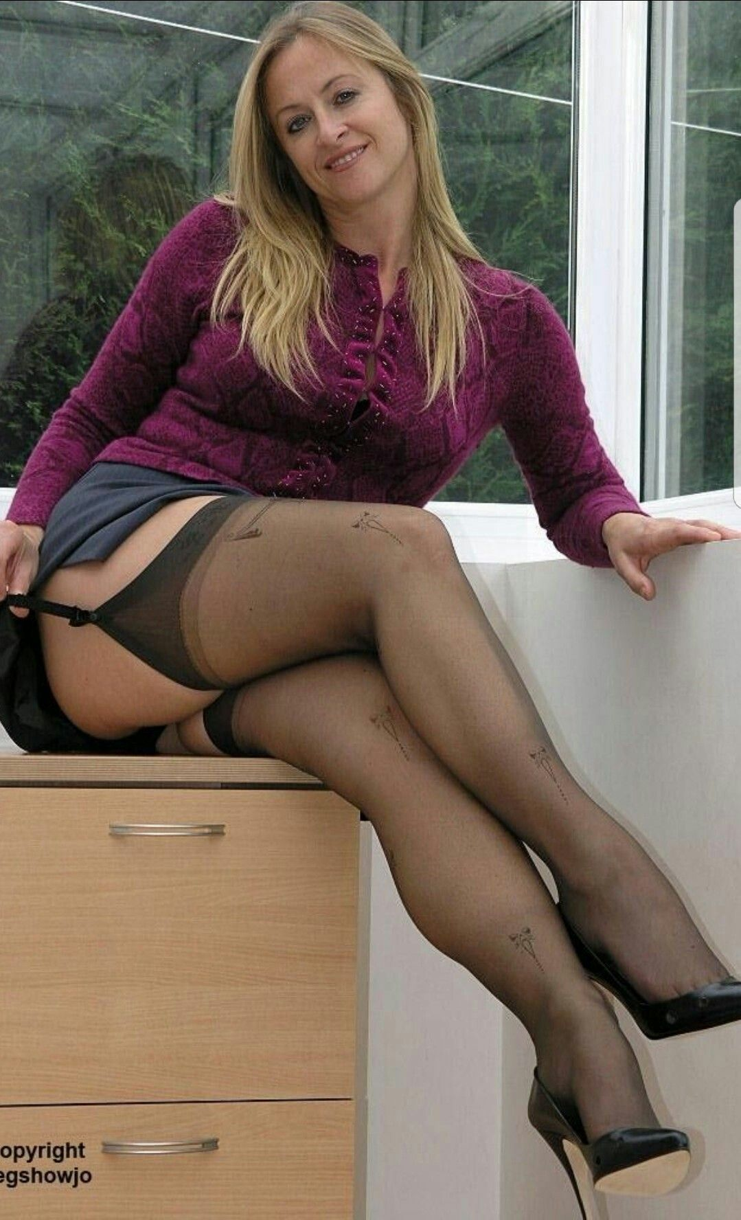 Plump mature thighs stockings pantyhose remarkable topic