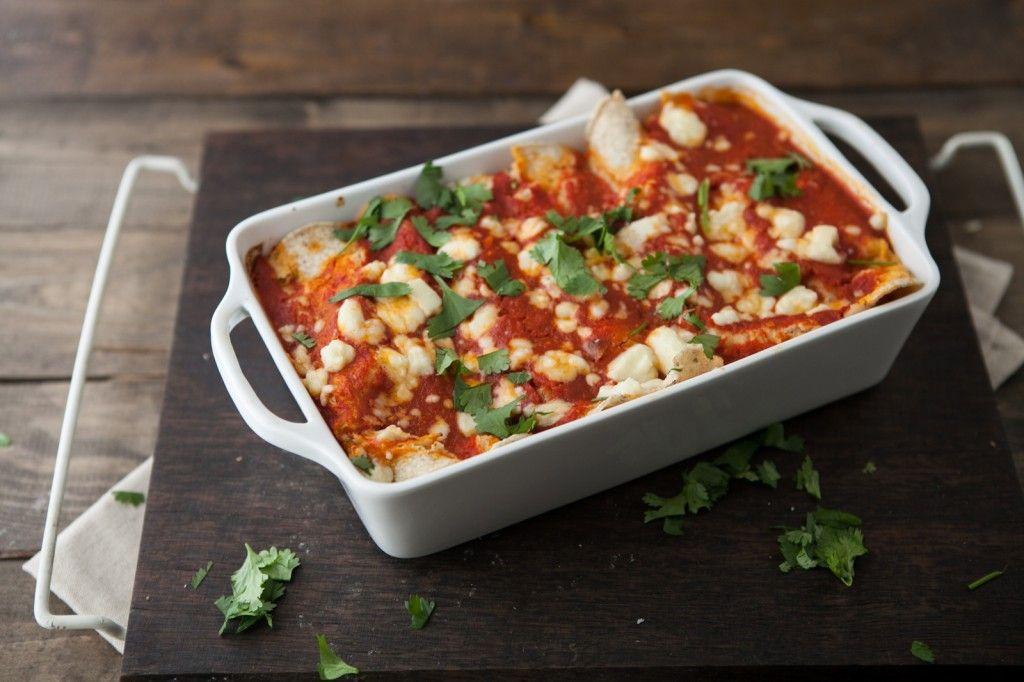 Naturally Ella | Roasted Corn and Ricotta Enchiladas with Chipotle Tomato Sauce | Naturally Ella