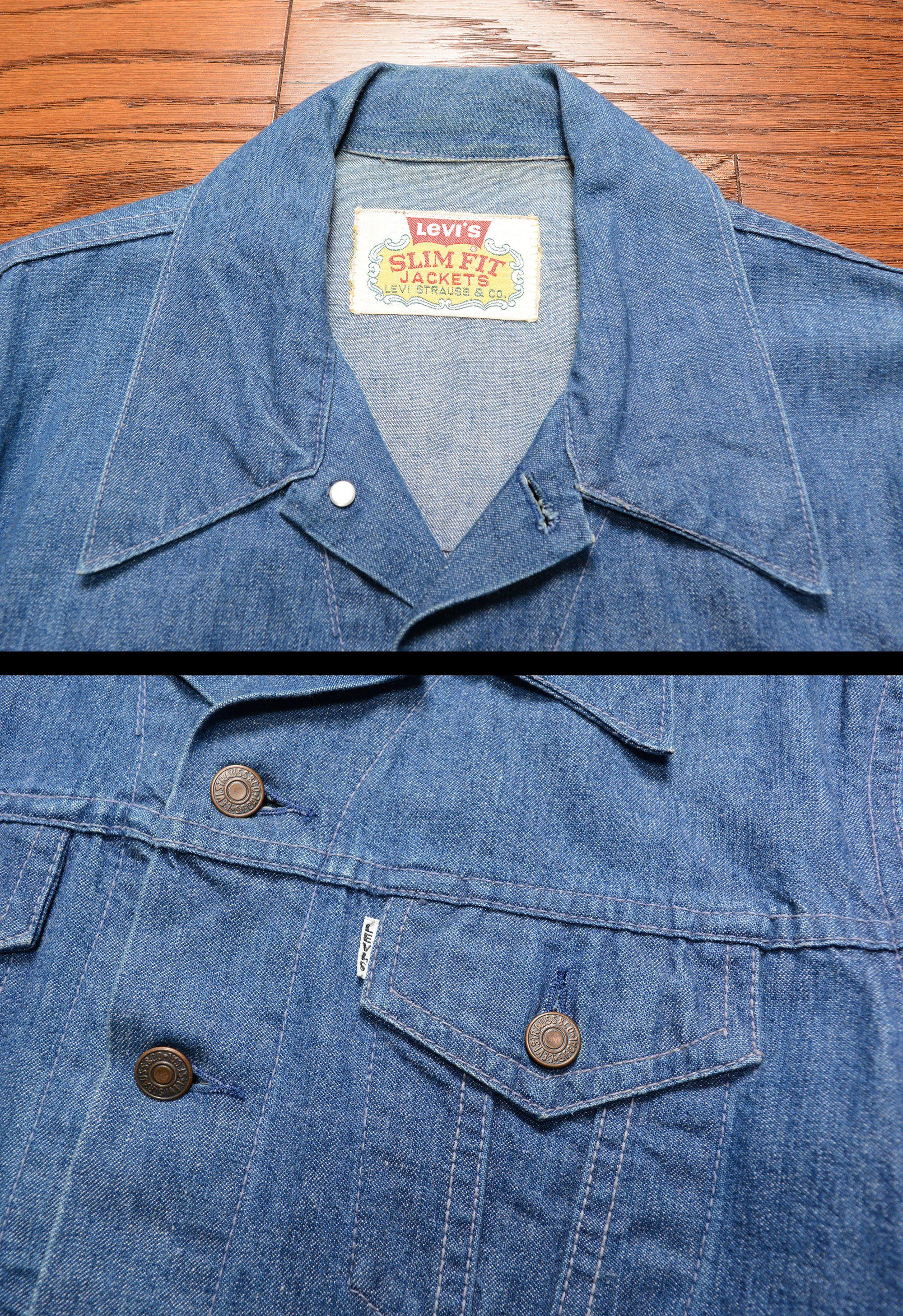 52a6e50cdd vintage Levis Big E denim jacket Slim Fit Jackets vintage 60s ...