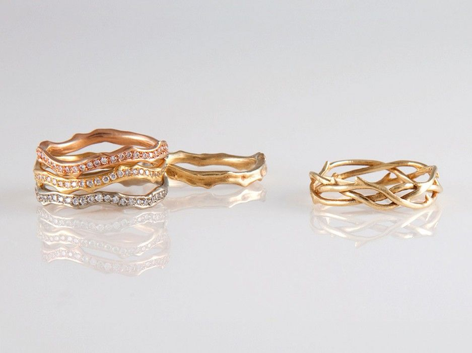 PHOTOS 30 NonTraditional Wedding Bands and Engagement Rings Plus