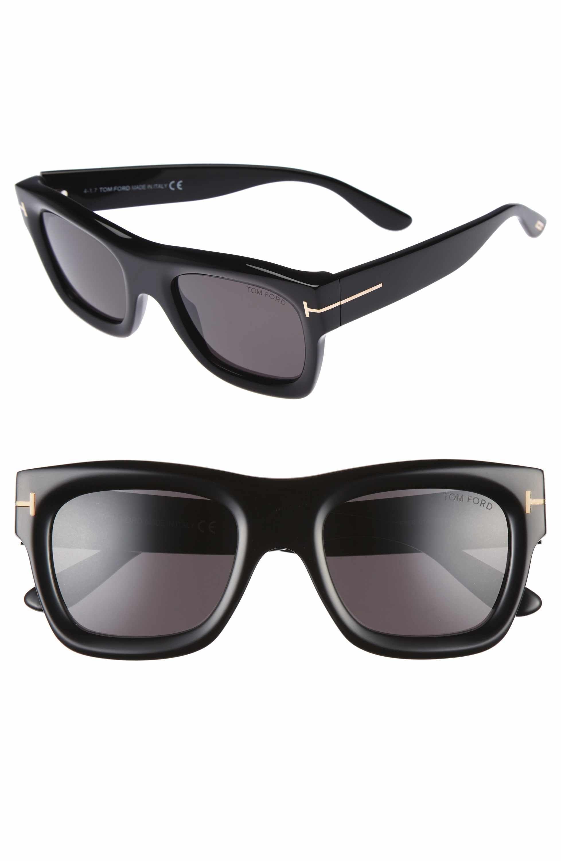 f8fda7c58cb Main Image - Tom Ford Wagner 52mm Sunglasses