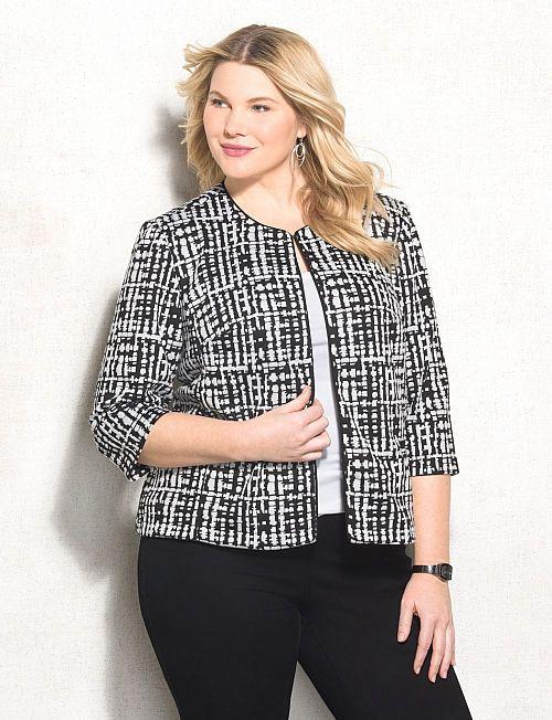 353db12370c Women s Plus Size Jackets   Blazers
