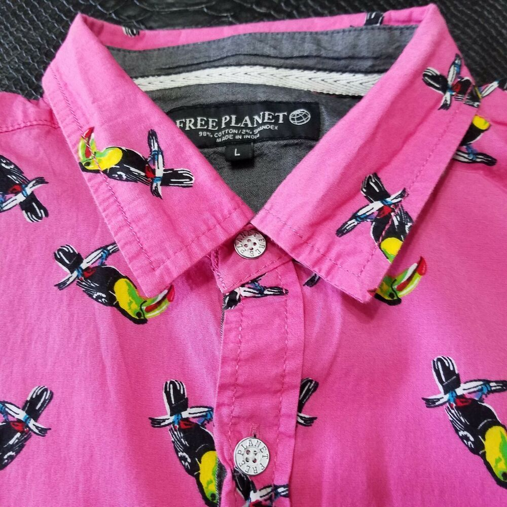 Details about Free Mens Large Fun Toucan Party