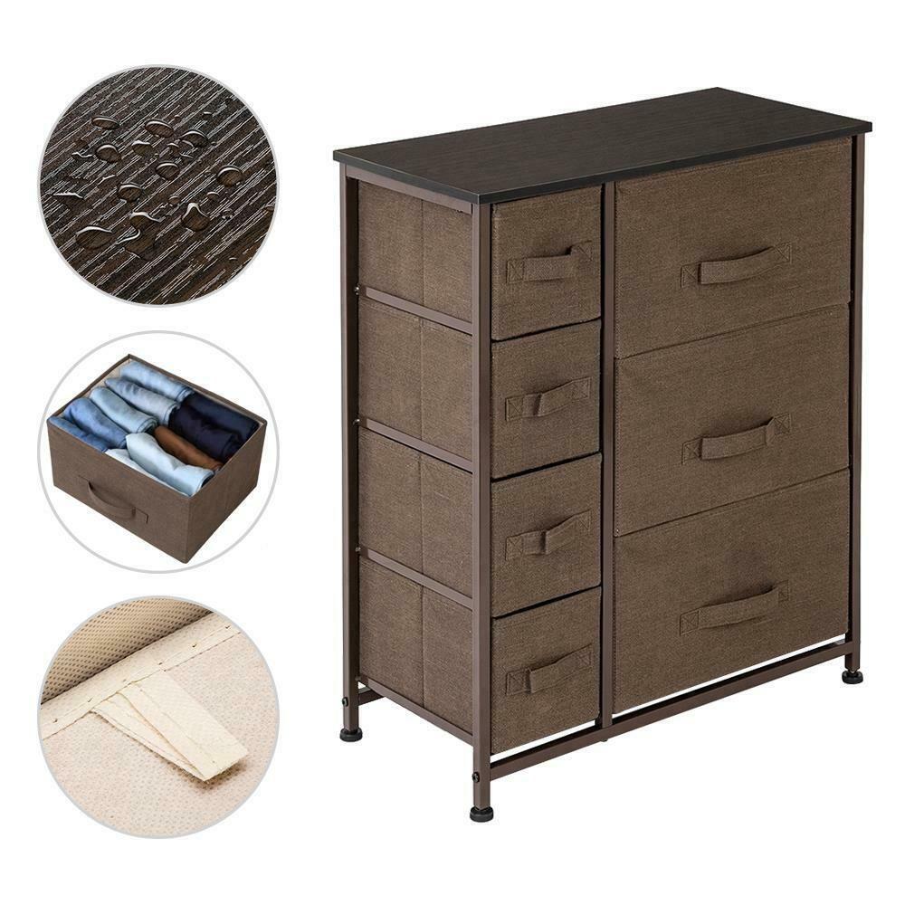7 Drawer Dresser Storage Organizer Unit Side Table Dresser Cabinet Closet Brown 42 99 Dr In 2020 Bedroom Furniture For Sale Office Furniture Sale Dresser Furniture