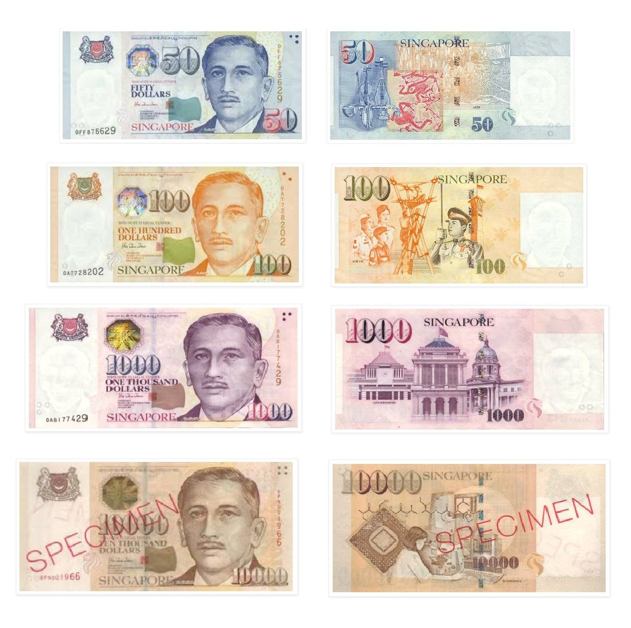Singapore Banknotes With Images
