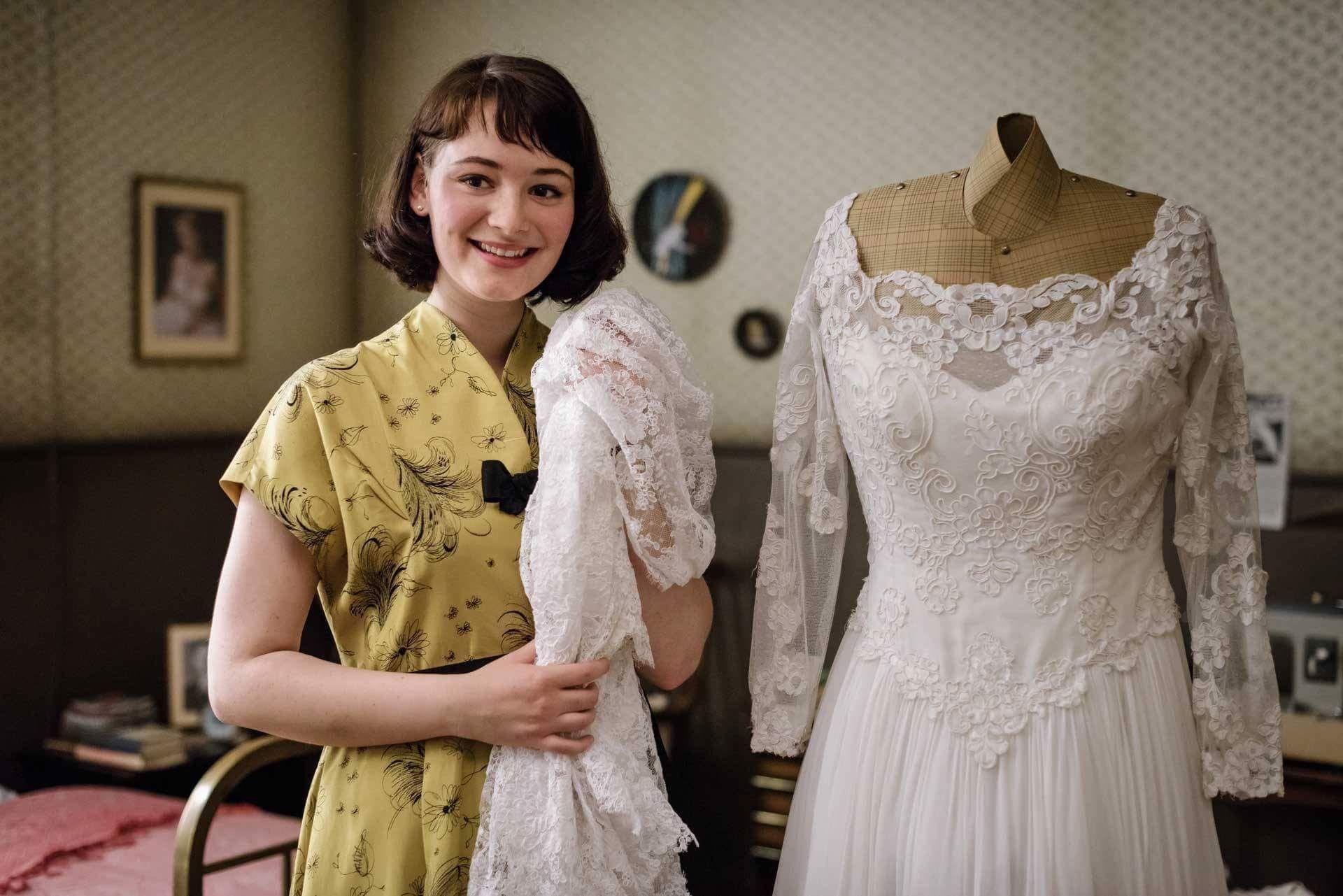 Ku'damm 56 - Helga Schöllack (Maria Ehrich)   Dresses, Wedding dresses  lace, Wedding dresses