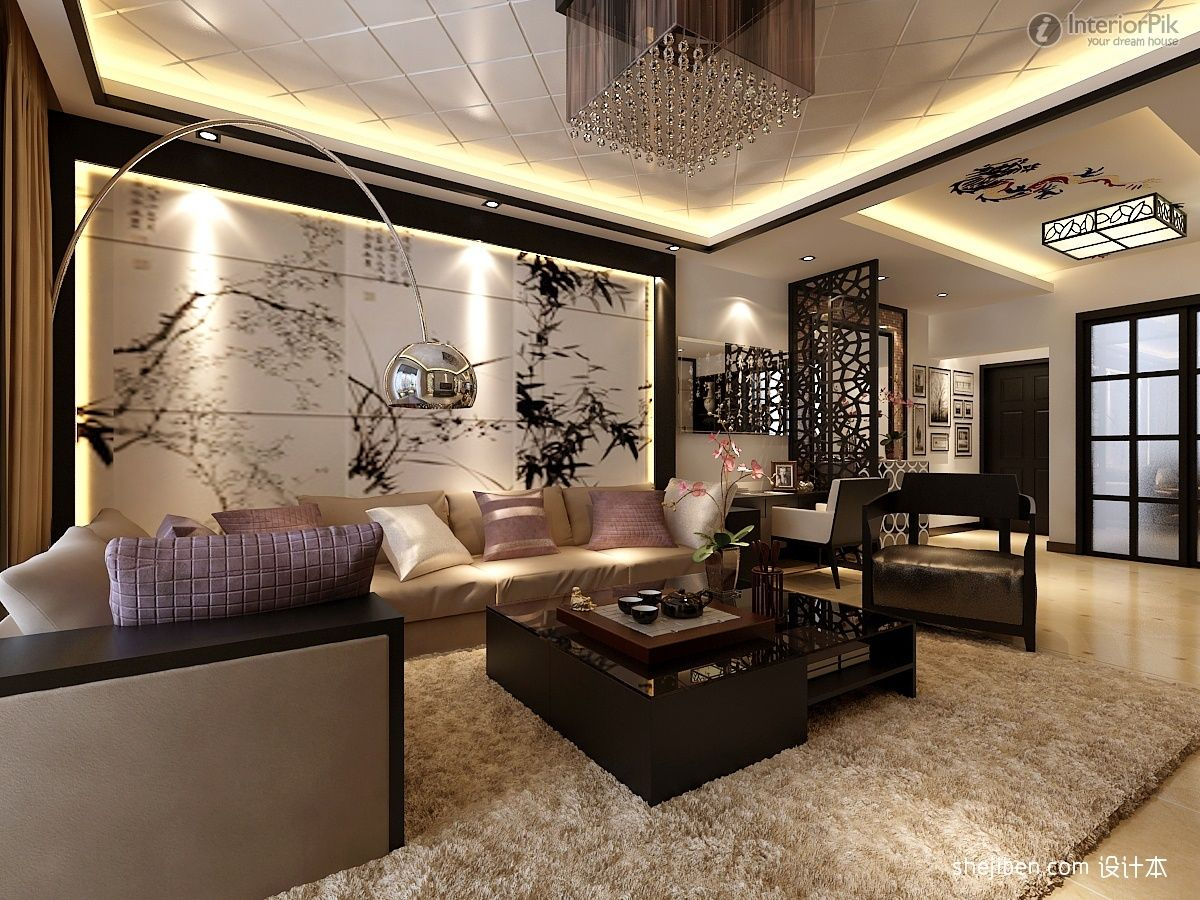 living area asian inspired living room chinese - Chinese Living Room Design