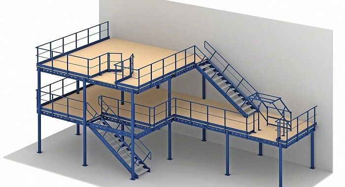 Planning a mezzanine floor in a factory or industrial space