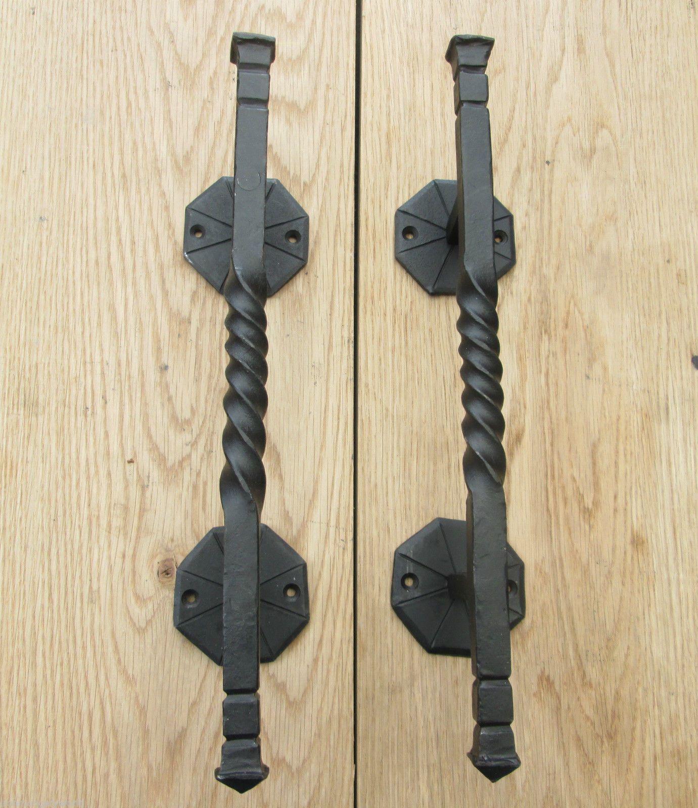 Details about 1 pair HAND BLACKSMITH DECORATIVE