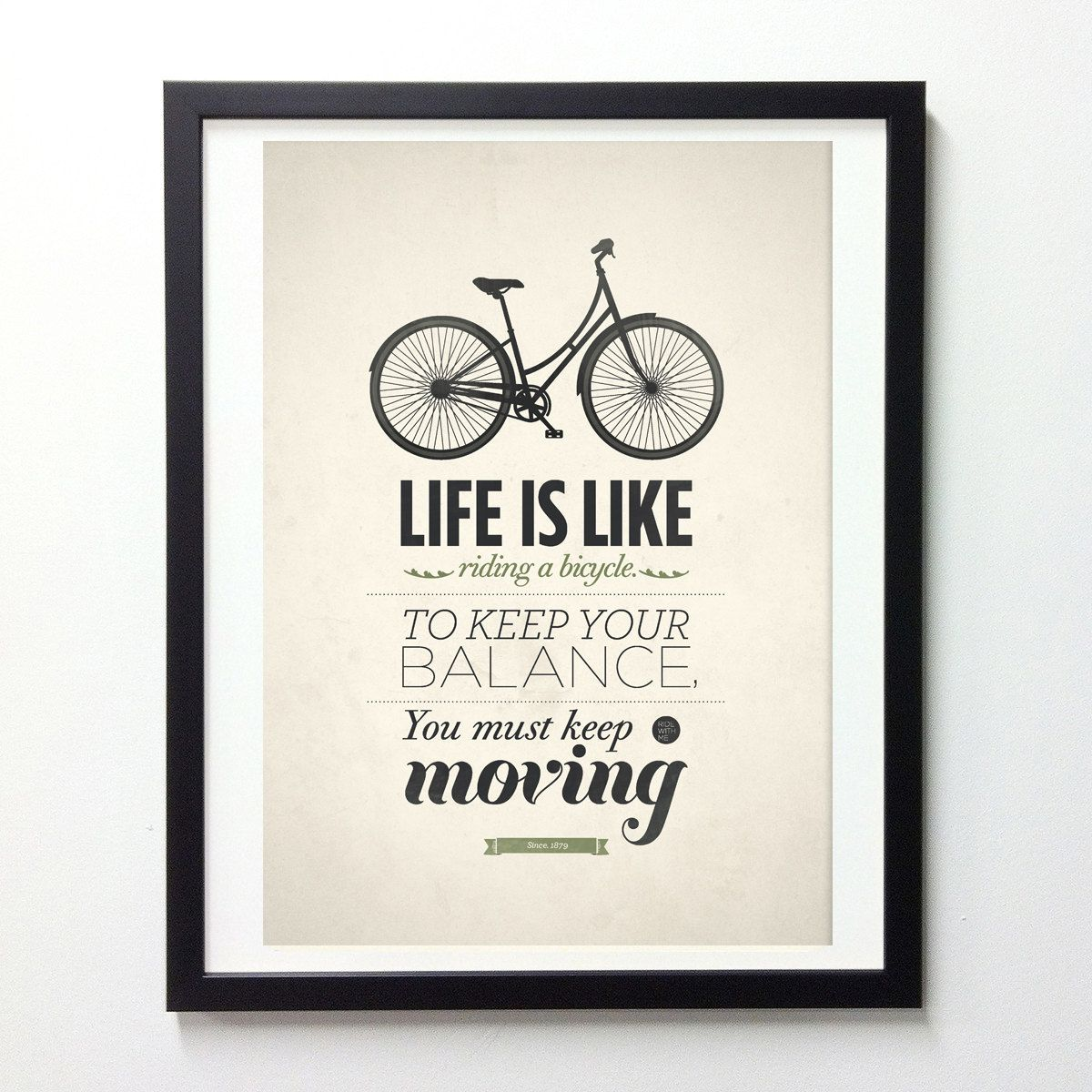 Quote poster design inspiration - Life Is Like Riding A Bicycle