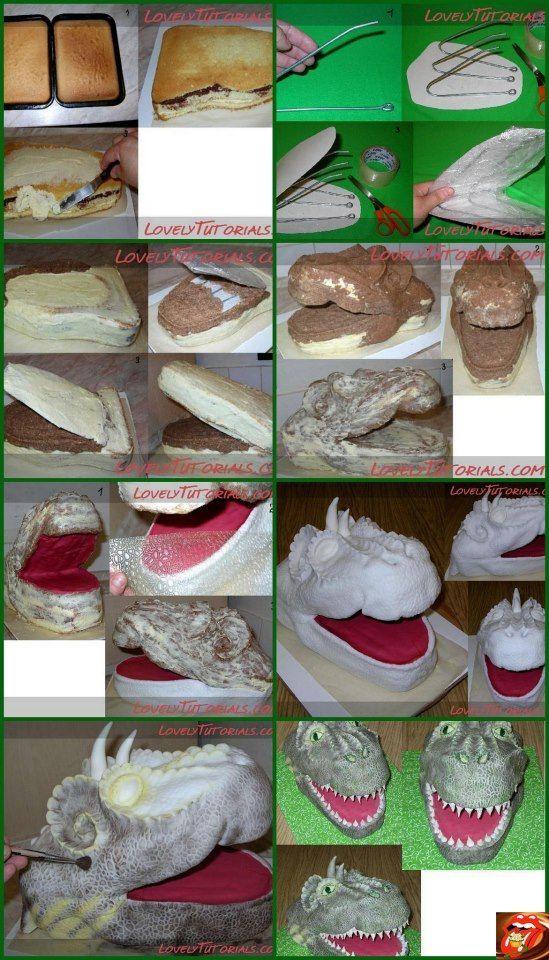Dragon Cake Tutorial Sculpted Cake Tutorials Pinterest Jaxens