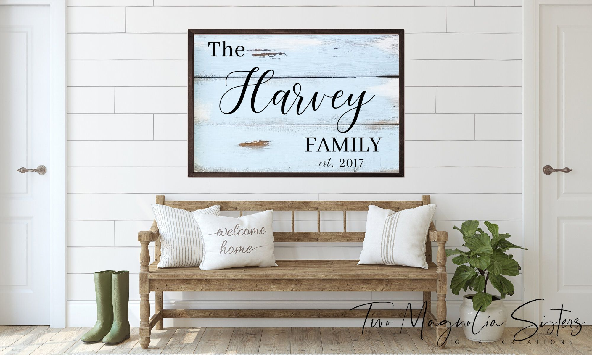 Personalized Family Farmhouse Style Sign Svg In Black Font Farmhouse Decor Digital Download Wall Art Wal Wooden Wall Signs Farmhouse Decor Above Couch Decor