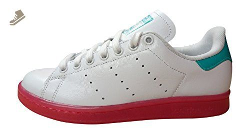 Adidas Originals Stan Smith W womens Trainers Sneakers Shoes (US 7.5, white  bright pink